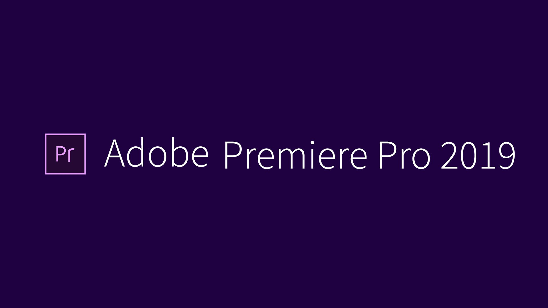 Premiere Pro CC 2019 Free Download - AGFY