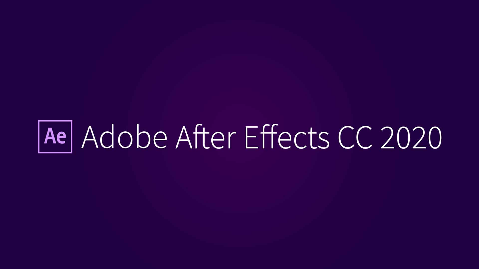 Adobe After Effects CC 2020